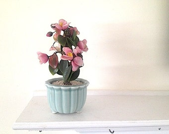Asian Cherry Tree Ceramic Blossom Statue, Mid Century Modern Home Decor, Cherry Tree Statue,