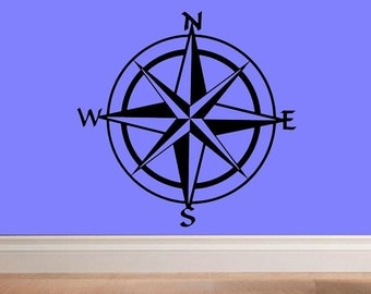 compass rose decal wall decal decal living room home decor nautical decal wall decor summer decor summer decal sailing decal lake decor