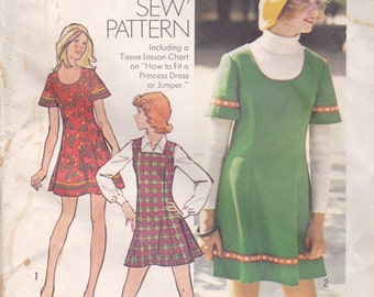 Adorable Mini Dress or Jumper Pattern Simplicity 5853 Size 12