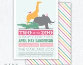 Zoo Animal Party Invitation Printable