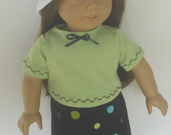 "Bright White  Cotton Bucket Hat 18"" Doll Clothes fits American Girl also fits 15"" Bitty Twins Bitty Baby"