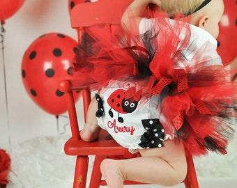 Ladybug diaper cover-Ladybug birthday outfit-Ladybug bloomers-ladybug personalized diaper covers