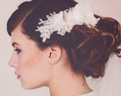 Crystal Decorative Wedding Comb. Silver Hair Comb. Winter Wedding Decorative Comb. Bridal Comb. The Delia Bridal Flower Headpiece #152