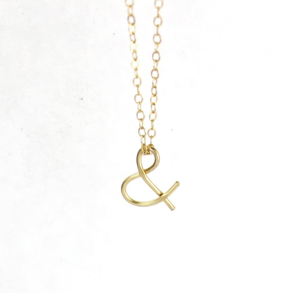 Wire Ampersand Necklace