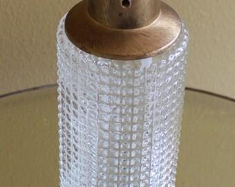 Vintage Mid Century Decorative Tall Textured Glass Bottle Decanter