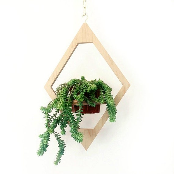 Modern Hanging Planter Boho Chic Decor Mid Century By
