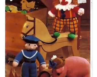 Jarol Three stuffed toys to crochet Pattern Book E785DK