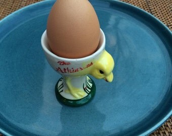 Vintage Hand Painted Chick Egg Cup, The Atkinsons Restaurant, ca. 1950s, Japan