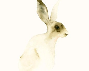 Blank Greeting Card Hare Art Card