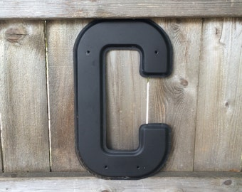 Large Metal Letter C Large Letter C  Etsy