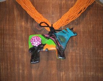 Show Steer- Neon Clay Jewelry Set