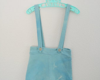 Childrens Vintage Shorts with Suspenders