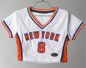 """CUTE 90s """"New York"""" Sporty Crop Top Athletic Jersey Style"""