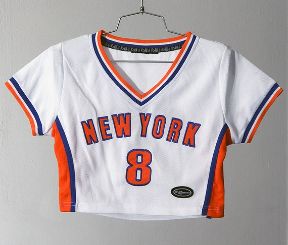 Cute 90s New York Sporty Crop Top Athletic Jersey