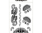 Black Henna Temporary Tattoo Hand Set 10x6cm