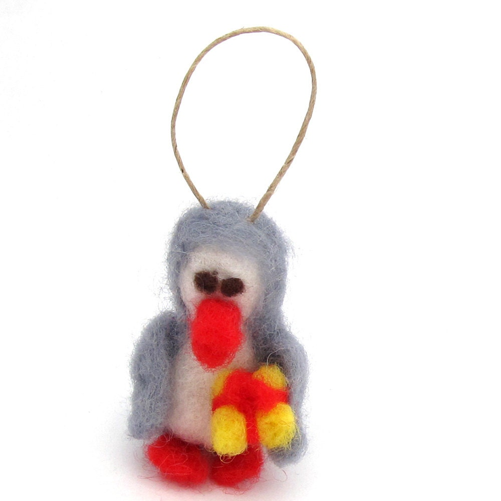 Felt Penguin ornament Penguin christmas ornament needle