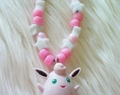 CLEARANCE 50 PERCENT OFF Original Price - Pokemon Wigglytuff Necklace