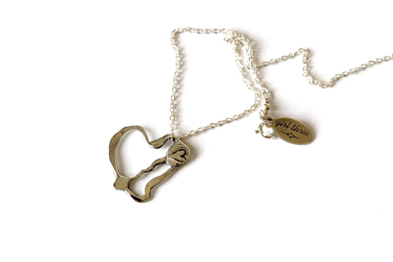 silver broken pendant arrow handmade melting