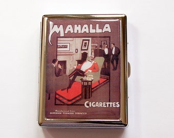 Metal cigarette case, Cigarette dispenser, Metal Wallet, Retro Design, cigarette box, Vintage Label, Metal Cigarette Box, Gift Idea (4967)