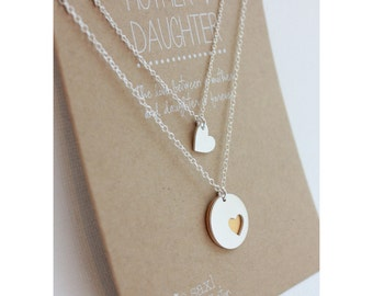 Mother daughter necklace set mother 3 daughters silver mother daughter necklace set mothers day gift necklace sets jewelry gift for her aloadofball Choice Image