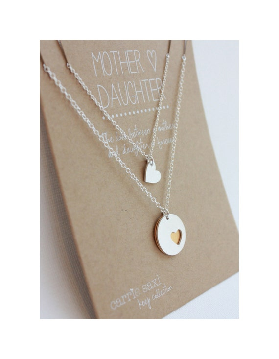 Mother Daughter Necklace Set Christmas Gift For Mom