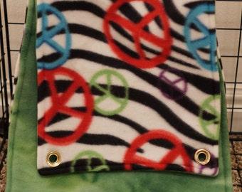 Green and Peace Zebra Double Rat Hammock
