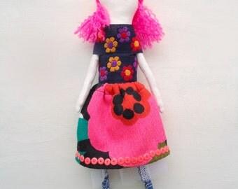 sally, a handmade art doll