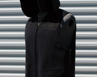 XL Cyberpunk Rocker Hooded Vest