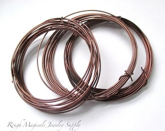 Brown Wire, Dead Soft Wire, Color Coated Aluminum Wire, 16 Gauge Wire or 18 Gauge Wire, Colored Metal Wire, Extra Soft Craft Wire