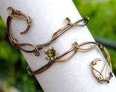 Olive green armband/Upper arm cuff/Arm bracelet/Gift for her/Gift for girlfriend/Fall bracelet/Boho armcuff/Body jewelry/Bohemian jewelry