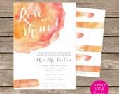 Watercolor Post Wedding Brunch/Breakfast Invitation DIY Printable -  Lovely Little Party