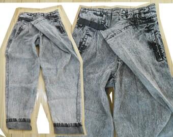 Acid Wash Jeans/ High Waisted Jeans/ 90s Jeans/ 90s Pants/ 90s High Waist Jeans/ Boyfriend Jeans/ Baggy Pants/ 90s Fashion/ Denim Pants