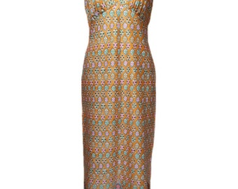 vintage 1970s halter maxi dress / Mel Warshaw Miss Jane Miami / polyester / spring summer / 70s dress / women's vintage dress / size medium