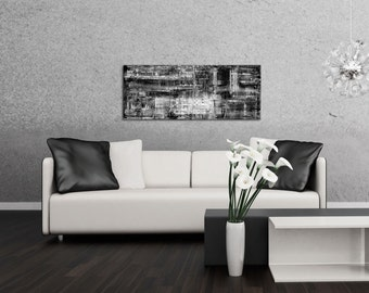 Black & White Art 'Aporia B/W' - Minimalist Monochrome Decor - Contemporary Artwork - Modern Metal Wall Art - Urban Style Metallic Painting