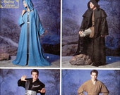 """Men's, Women's Robe, Tunic & Cape Pattern- Size XSmall, Small, Medium, Large, XLarge, Bust/Chest+30"""" to 48"""" - Simplicity 5840 uncut"""