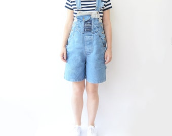 Vintage blue jeans women 90s overalls