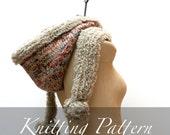 Knitting Pattern - The Vemdalen Hood - Hooded Scarf Pattern - Fur Hood Pattern - Winter Hood - Knit Hood - Fur Scarf - Oversized Hood - Boho