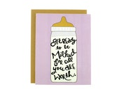 Funny Baby Card / Baby Shower Card / New Baby Card / Milked For All You're Worth