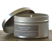 Gingerbread Soy Candle Tin 8 oz. - gingerbread candle - holiday candle - fall candle - cookie candle - food candle - bakery candle