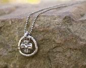 Minimalist sterling silver necklace - artisan cross charm, dainty boho chic, layering everyday jewelry by Mollymoojewels