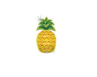 Giant Pineapple Balloon, Summer, Party Supplies, Party Decor, 1st Birthday, Cook Out, Pool Party, Summer Birthday, Holographic, Teen, Fruit