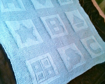 Personalized Knit Baby Blanket