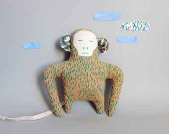 Doll, Bruno The Monkey, Green pelage, Silkscreen