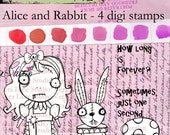 Alice and Rabbit -- wonderland collection digi set available for instant download