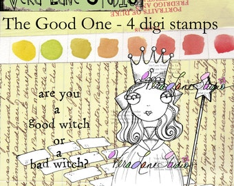 "Oz inspired ""Good Witch"" digi stamp set available for instant download"