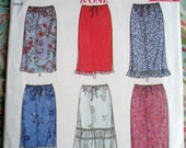 New Look Misses' Skirts Pattern 6953 - Size 8-10-12-14-16-18. An Original, Uncut Pattern From The 2000s!