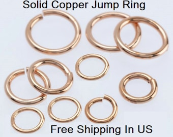 18 Ga Solid Copper Round Open Jump Ring (SAW-CUT) See Variations