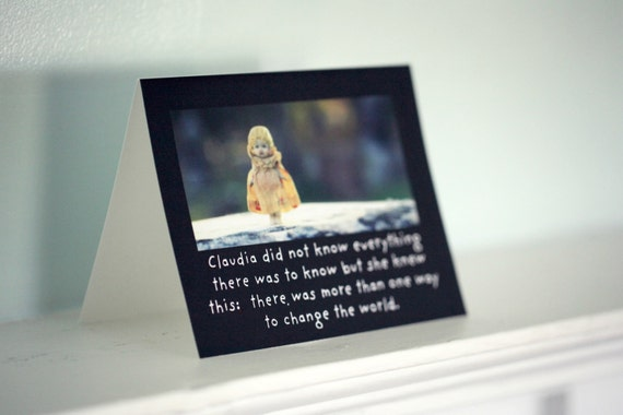 Photo Card Note Card Folded Card With Envelope (1) Porcelain Doll Claudia Did Not Know Everything Doll Card