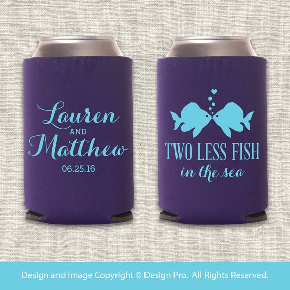 Two less fish in the sea beach wedding can cooler for Two less fish in the sea