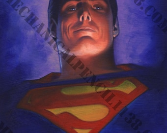 Painting Print 08-  Superman